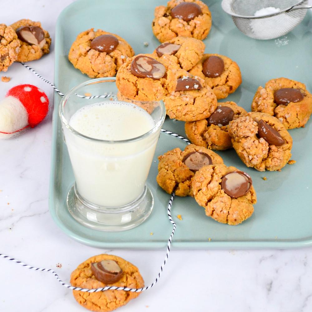 Pindakaas koeken maken met chocolade
