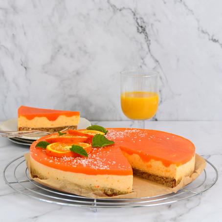 Oranje kwarktaart