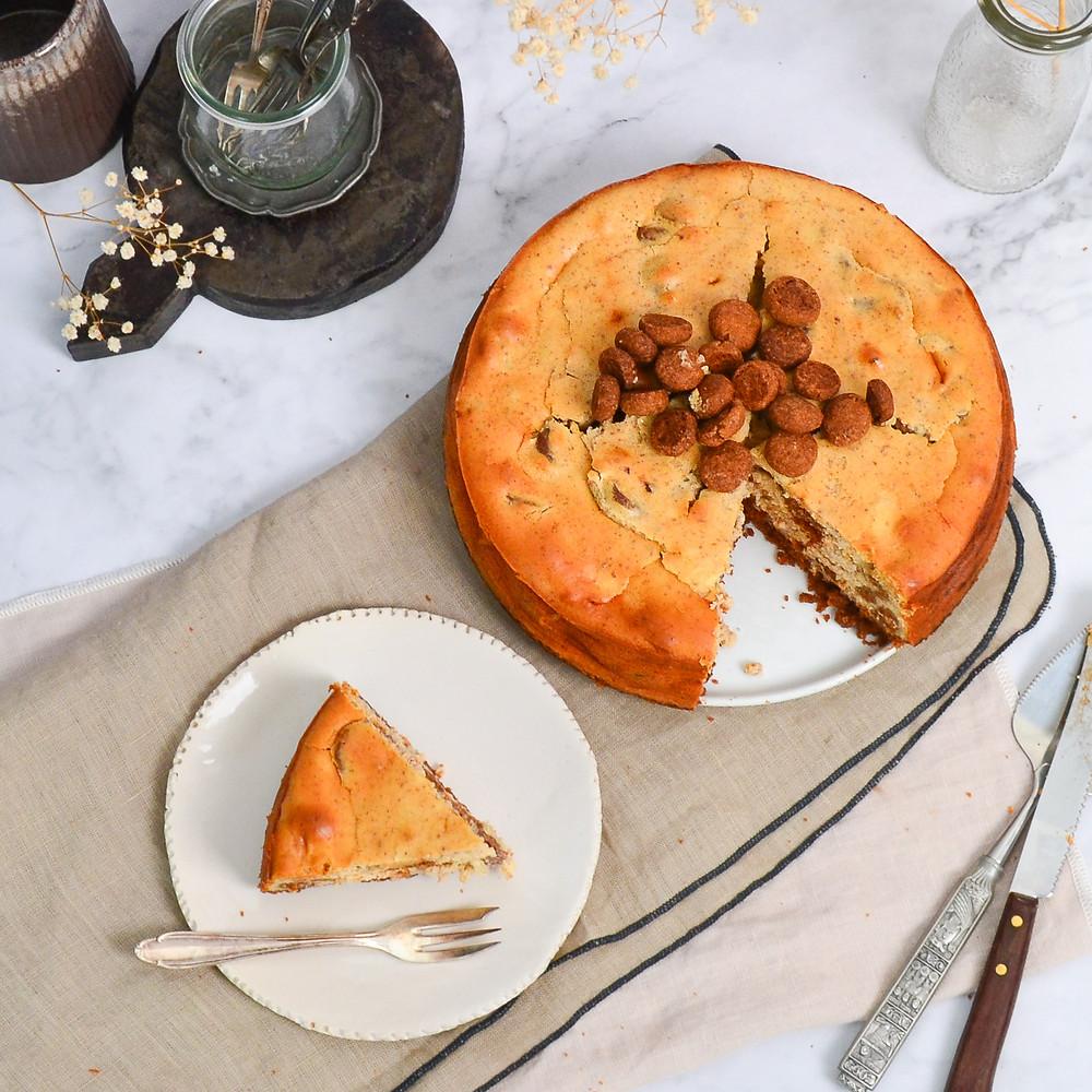 Recept voor een sinterklaas cheesecake met kruidnoten