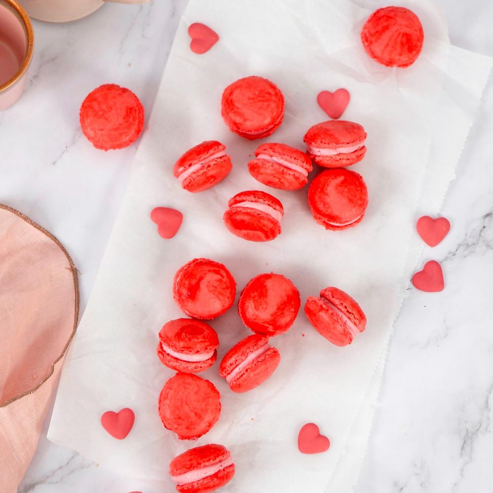 Roze macarons recept voor Valentijnsdag