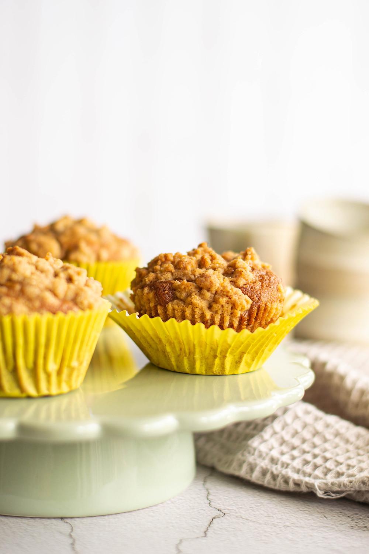 Recept voor bananenmuffins met crumble