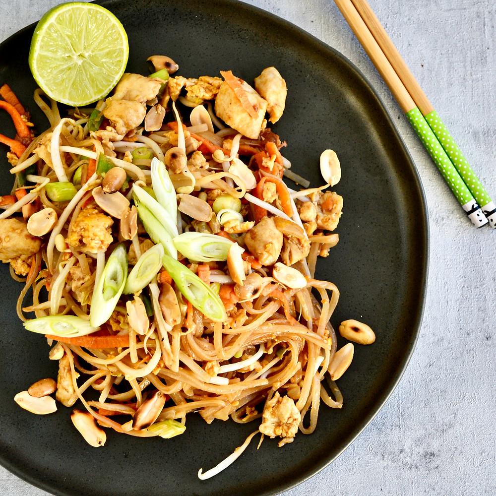 Recept om Pad Thai te maken met kip