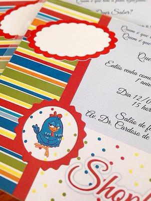 Convite infantil #babygirl 👶🏻♥️🐥 Gali