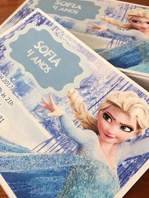 Convite Frozen ❄️ #lembrancinhas #convit