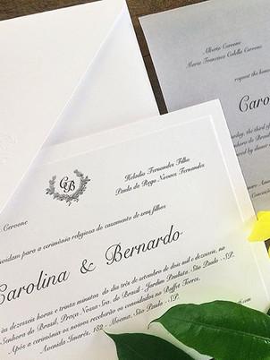 Convite de casamento tradicional como mo