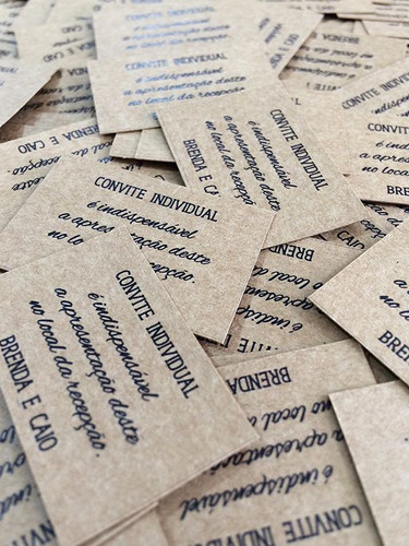 Tags para convite individual no papel kr
