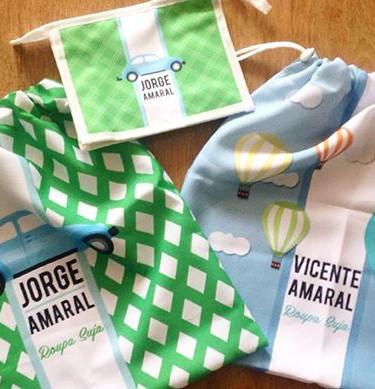 Sacos para roupas e necessarie para os i