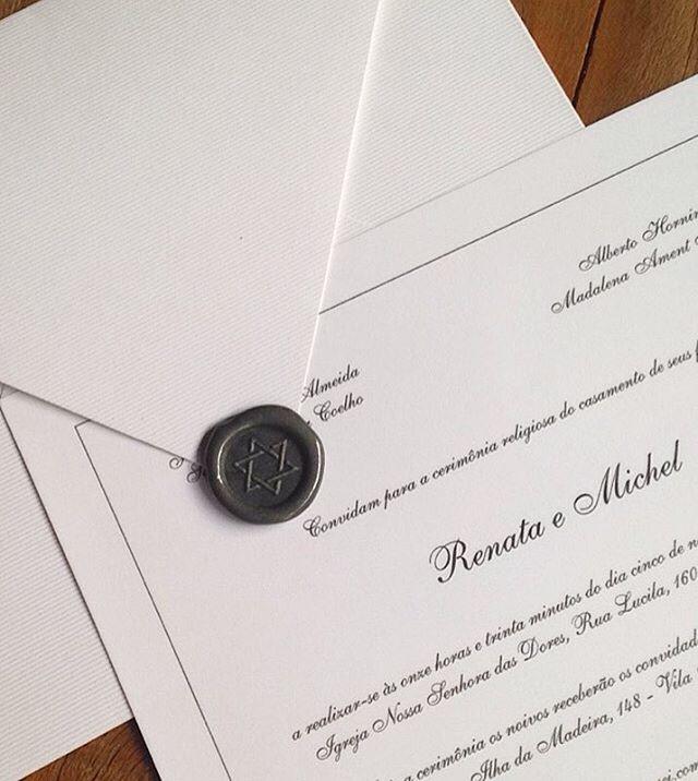 Convite de casamento tradicional com lac