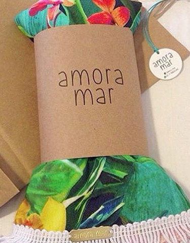 Embalagem e Tag para cangas _amora_mar �