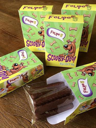Biscoitos Scooby para lembrança de anive