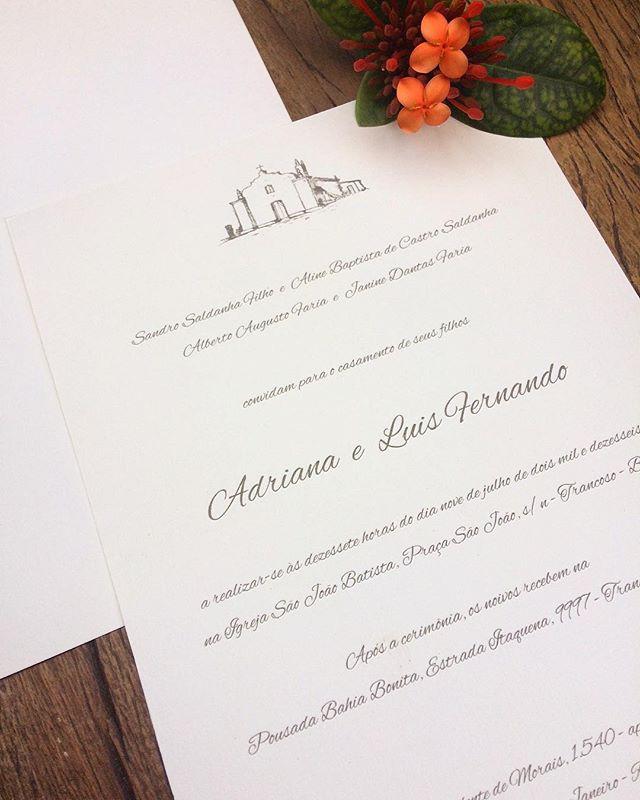 Convite para #destinationwedding em Tran