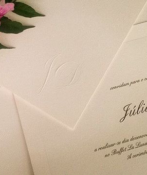 Convite de casamento clássico Off Withe