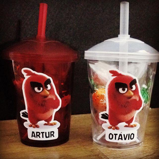 Copo personalizado Angry birds #lembranc
