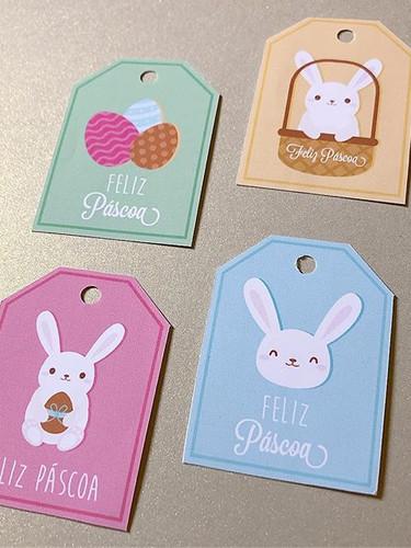 Tags para Páscoa #pascoa #coelho #bunny