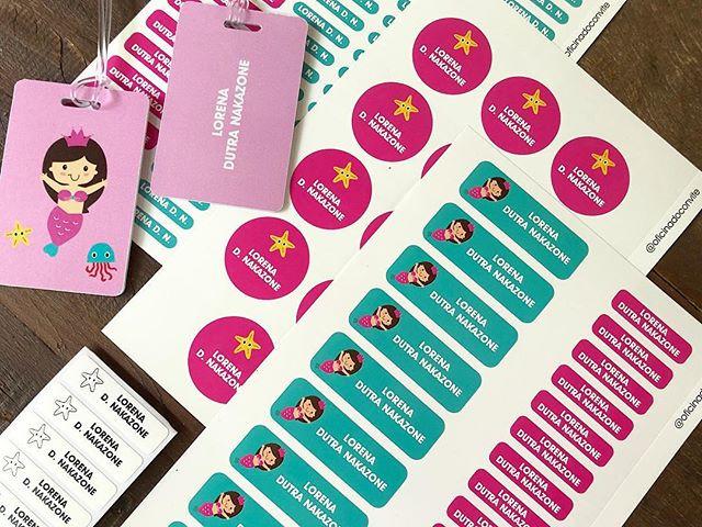 Kit Etiquetas com tamanhos e formatos va