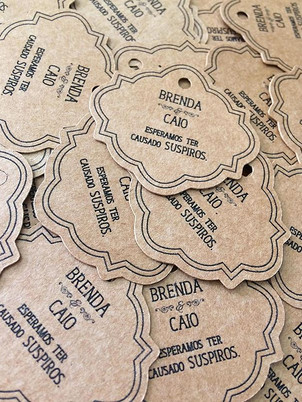 Tags personalizadas no papel Kraft para