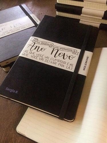 Gifts de fim de ano! Cadernos personaliz