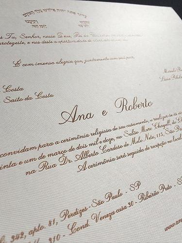 Convite casamento tradicional - Casament