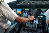 What do you use to control the plane in the air?