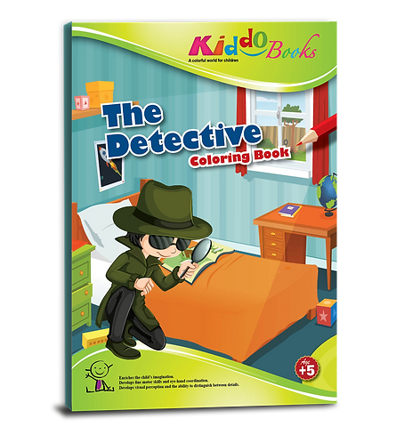 4034  The Detective - Coloring Book