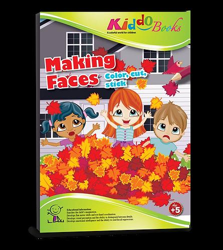4028  Making Faces-Color, cut & stick