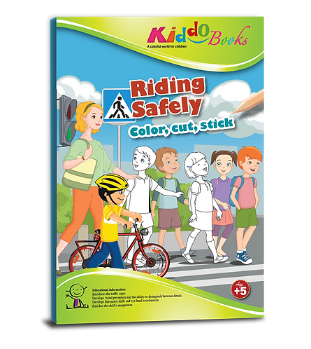 4033  Riding safely - Color, cut & stick