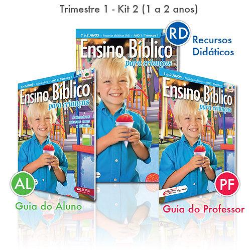 KIT 02 Guia do Professor e Recursos Didáticos +  Guia do Aluno (1 a 2 anos)