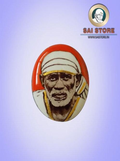 Sai Baba Gold-line Pendant Stone No.560  (In Colours )