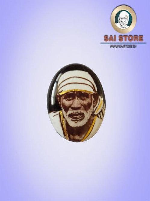 Sai Baba Gold-line Pendant Stone No.300 ( In Colours )