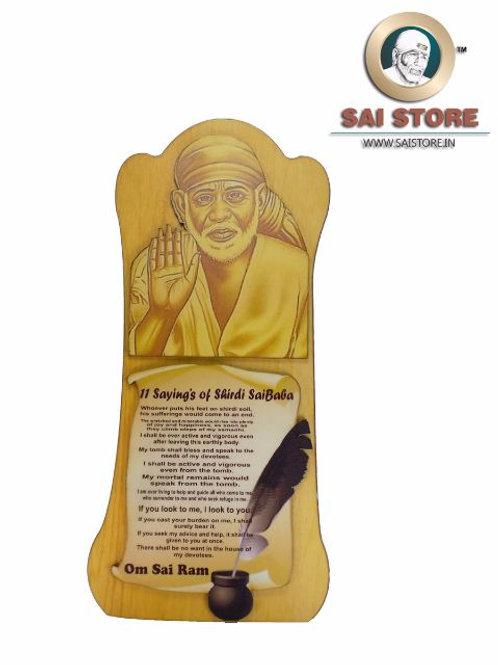 11 Saying of Shirdi Sai Baba - Ashirwad ( Yellow )