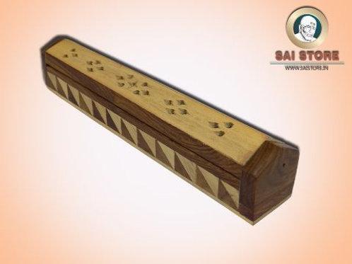 Elegant Wooden Handcrafted Agarbatti (White & Brown)