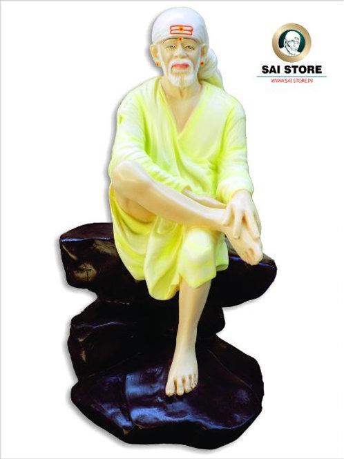 Sai Baba Statue No. 4.5 ( Black Stone ) Mat