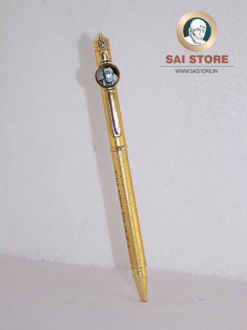 Sai Diamond Cross Om Sai Gold Pen No. 68 - 1