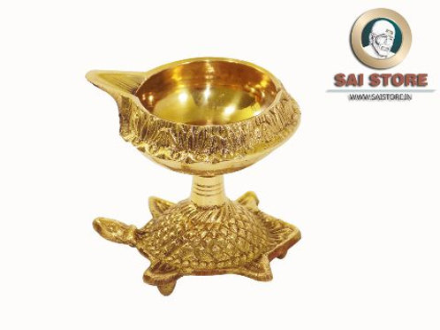 Brass Kuber Tortoise Diya