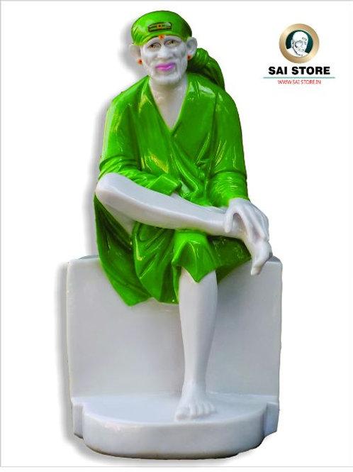 Sai Baba Plain Stone Statue No. 6 (In Colour)