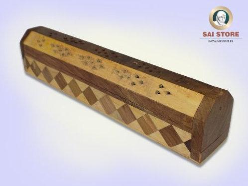 Elegant Wooden Handcrafted Agarbatti(White & Brown)