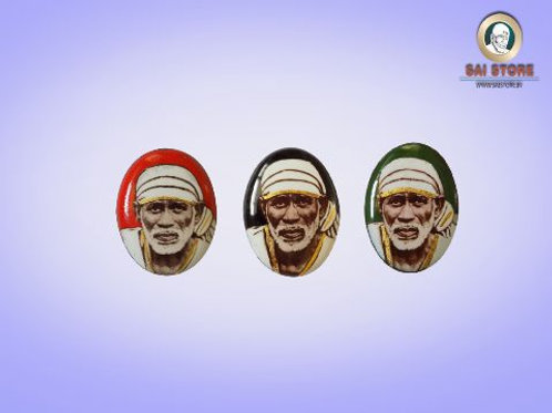 Sai Baba Gold-Line Ring Stone No.100 ( In Colours )