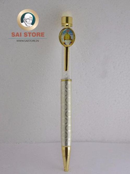 Sai Crystal C-60 Silver Gold Pen No.- 90 - 1