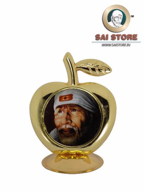 Sai Baba Golden Plated Apple Shape Dashboard