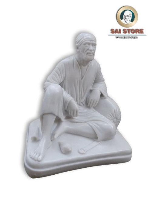 Sai Baba Dwarkamai Statue No. 4 ( In White)
