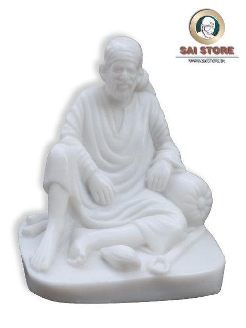 Sai Baba Dwarkamai Statue No. 3 ( In White )
