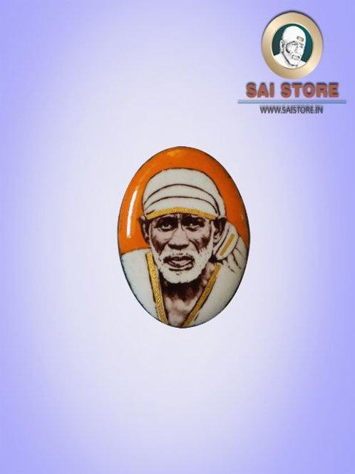 Sai Baba Gold-line Pendant Stone No.260 ( In Colours )