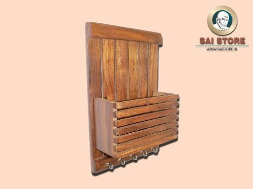 Wooden Fine Wall Hanging Key Holder And Stand