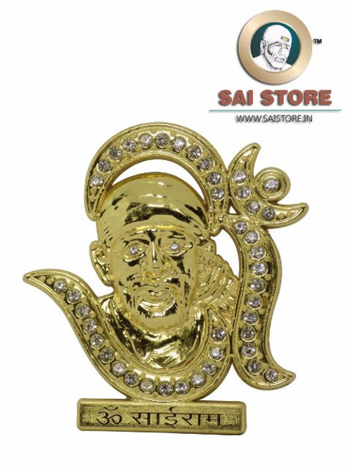 Sai Baba with Om Golden Plated With Diamond Idol