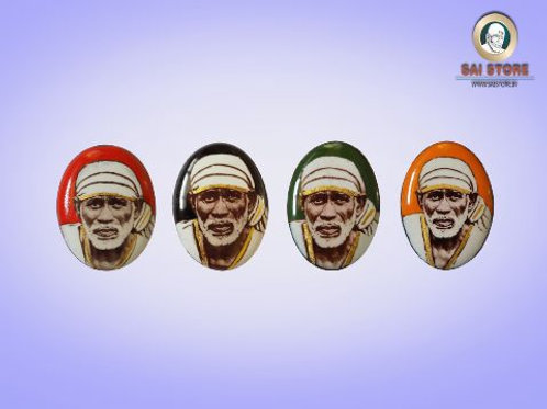 Sai Baba Gold-Line Ring Stone No. 90 ( In Colours )