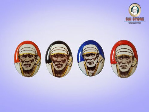 Sai Baba Gold-Line Pendant Or Ring Stone No. 150 (In colours )