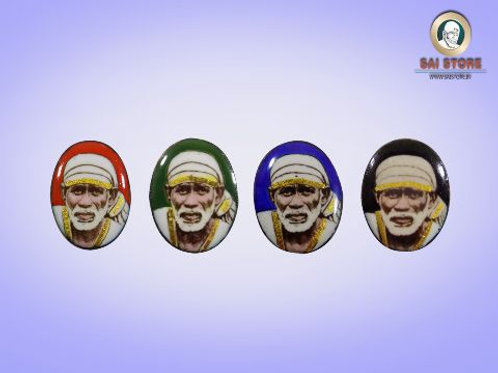 Sai Baba Gold-Line Ring Stone No. 120 ( In colours )
