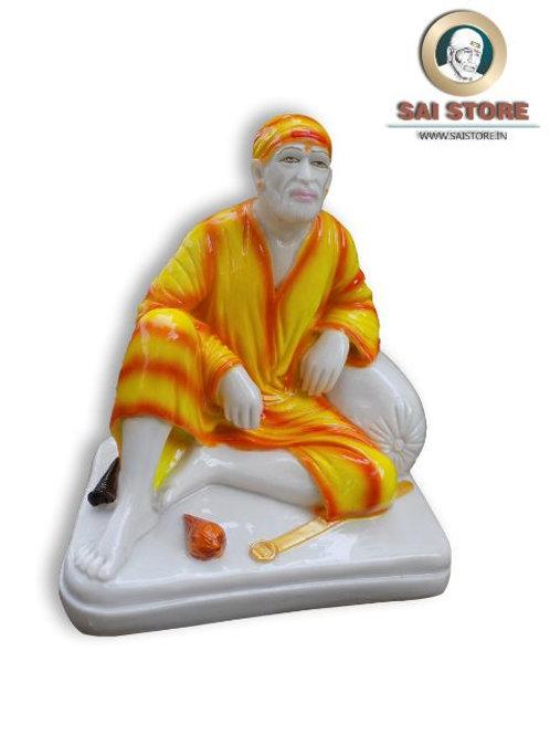 Sai Baba Dwarkamai Statue No.4 (In Colours)
