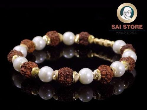 Panch Mukhi Rudraksha Pearl Bracelet No. 40