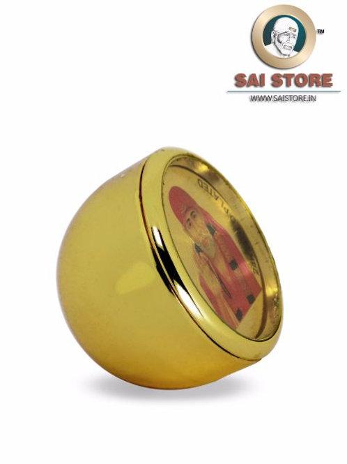 Sai Baba Ashirwad 24 Carat Gold Plated Stand - Dome Shape